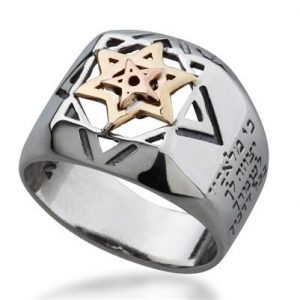 Five Metals and 9K Gold Hava (Eve)  Ring -