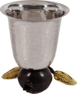 Yair Emanuel Stainless Steel Reversible Kiddush Cup: Pomegranates