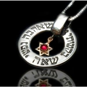 Sliver Star of David Necklace -