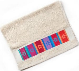 Multicolored Flags Netilat Yadayim - Hand Washing Towel