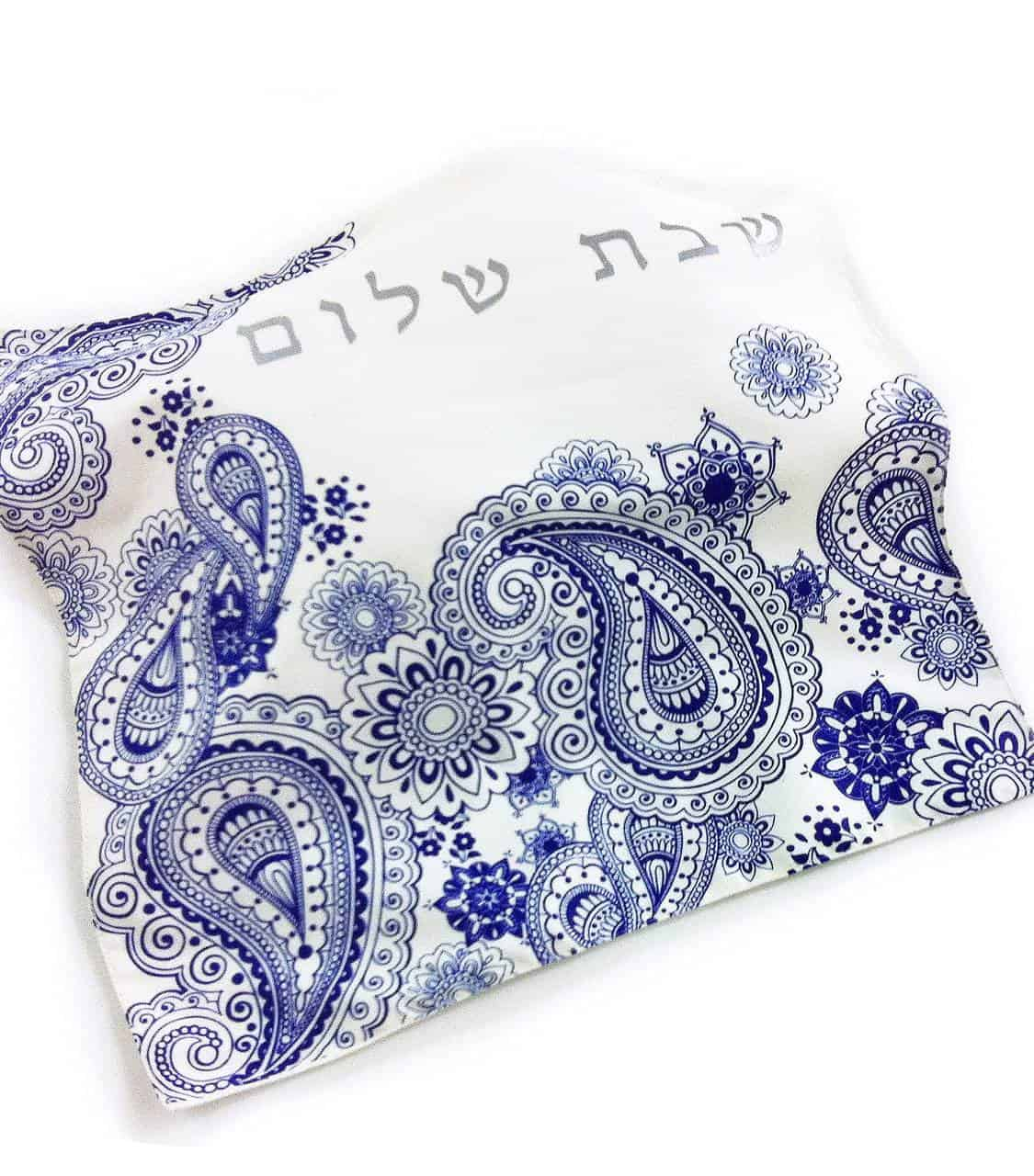 Challah Cover - Blue Paisley