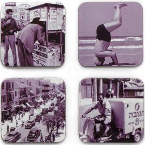 Posavasos set de 4 - Israelíes Vintage