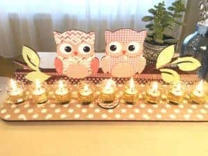 Purple owl Menorah