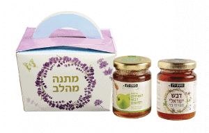 Mini Gift Box Apples and Date Honey  by Lin Farm