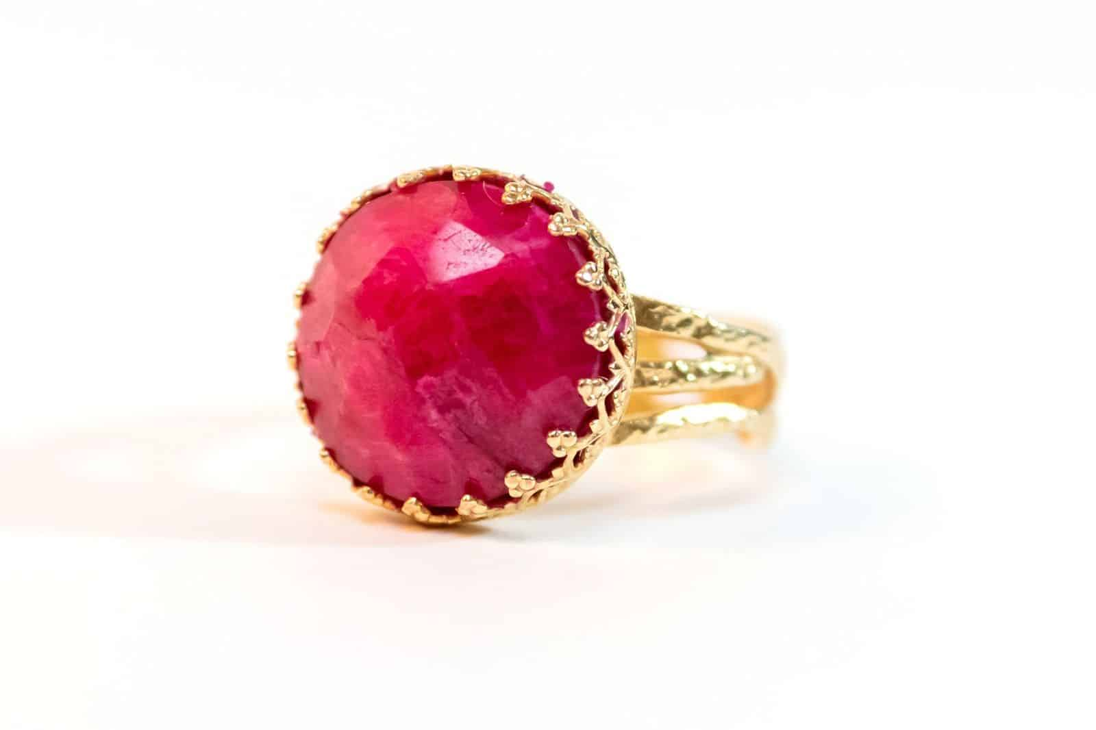 Ruby Goldfield Ring - stone of Divine Creativity
