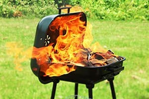 """Burned mum warns of BBQ danger as first aider hailed a """"hero"""""""