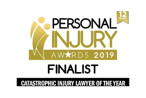 Solicitor Samuel McFadyen shortlisted in 'Catastrophic Injury Lawyer of the Year' category at 2019 Personal Injury Awards