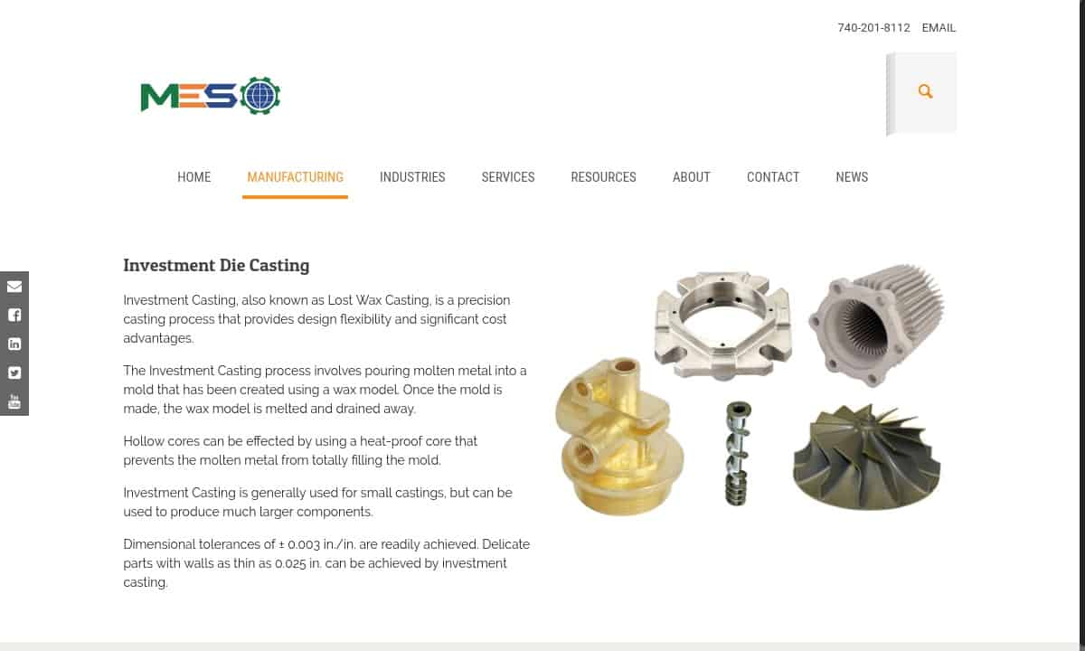 Investment Casting Companies | Investment Casting Services