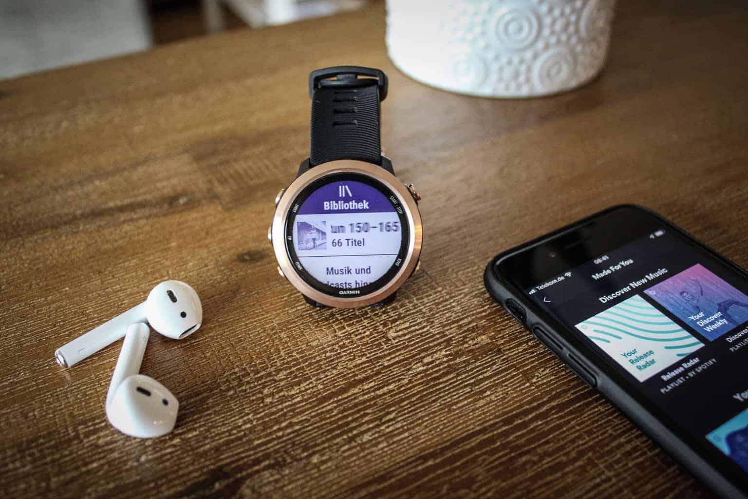 Techniknews: Spotify für Garmin FR645 Musik, Apple Airpods mit Garmin Uhren