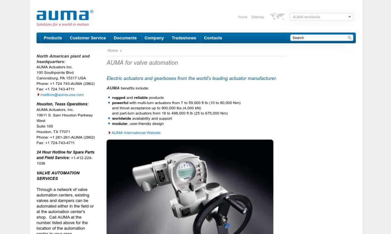 AUMA® Actuators, Inc.