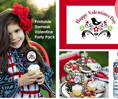 Free Love Bird Damask Valentine Pack {Limited Offer}