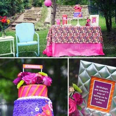 40th Birthday Outdoor Garden Party Ideas
