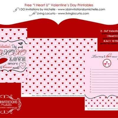 Free Printable Valentine Cards & Love Notes