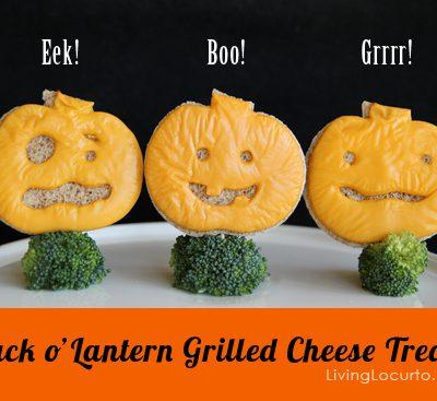 Halloween Jack o' Lantern Grilled Cheese {Fun Food}