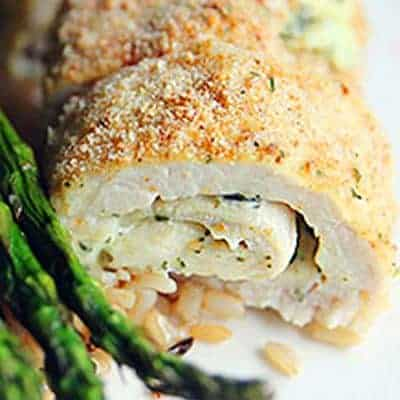 Low Carb Baked Chicken Pesto Rolls