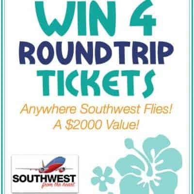 Summer Vacation Giveaway! Win 4 Southwest Airlines Tickets!