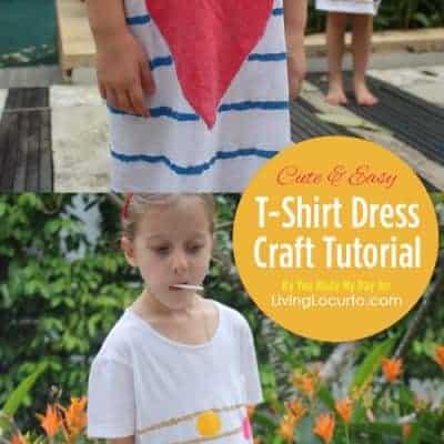 DIY T-Shirt Dress Craft Tutorial