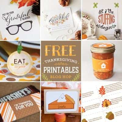 8 Thanksgiving Free Printables | Blog Hop