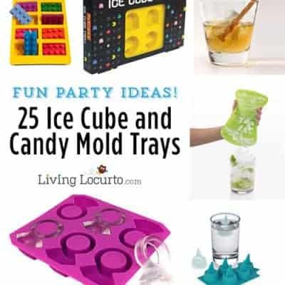 25 Fun Party Ice Cube & Candy Mold Trays