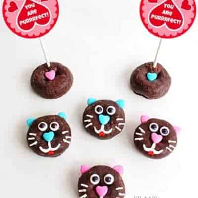 Cat Donuts with Free Printable Tags