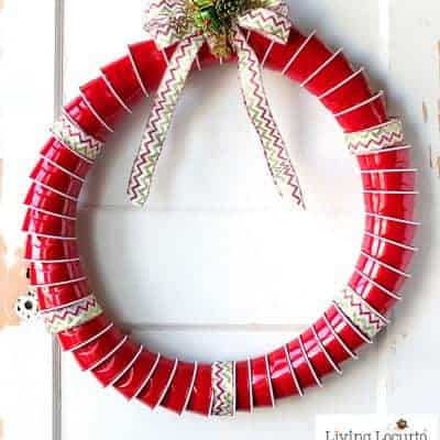Red Solo Cup Christmas Wreath
