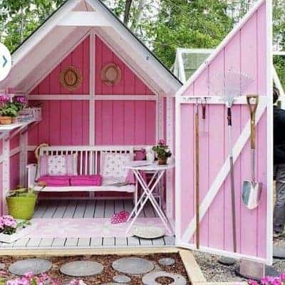 The Most Darling Backyard She Sheds
