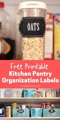 Kitchen Pantry Free Printable Organization Labels