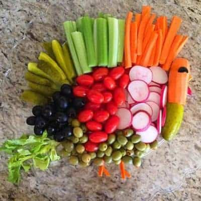 Vegetable Trays, Travel and Thankful Thoughts
