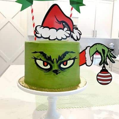 Grinch Cake and Grinch Christmas Party Ideas