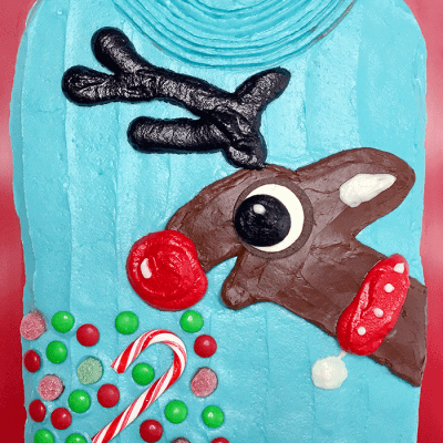 Reindeer Ugly Christmas Sweater Cake