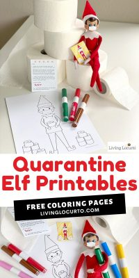 Quarantine Elf Printable Coloring Page And Elf Face Masks