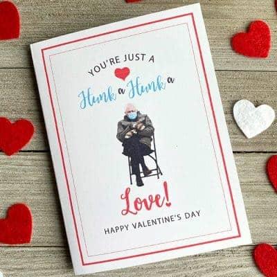 Bernie Meme Valentine's Day Cards [Printable]