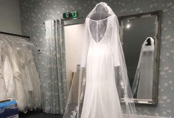 shop and gown at Magnolia Bridal Designs