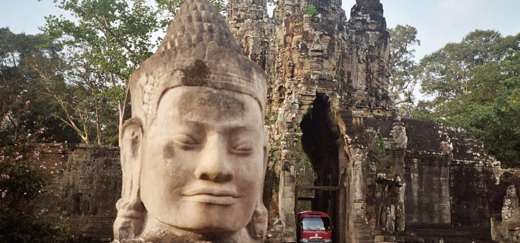 First temple visits in Angkor Wat