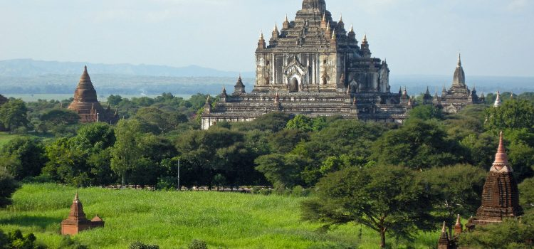 Cycling through Old Bagan