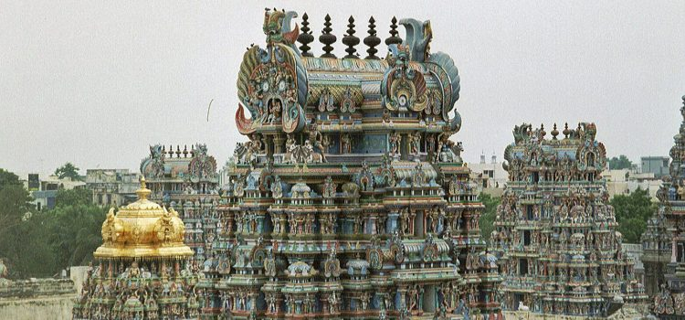 The rooftops of Madurai