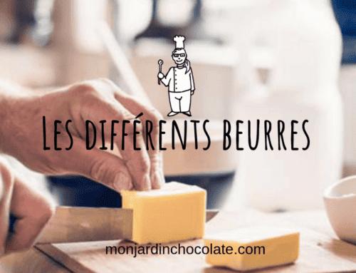 Les différents beurres