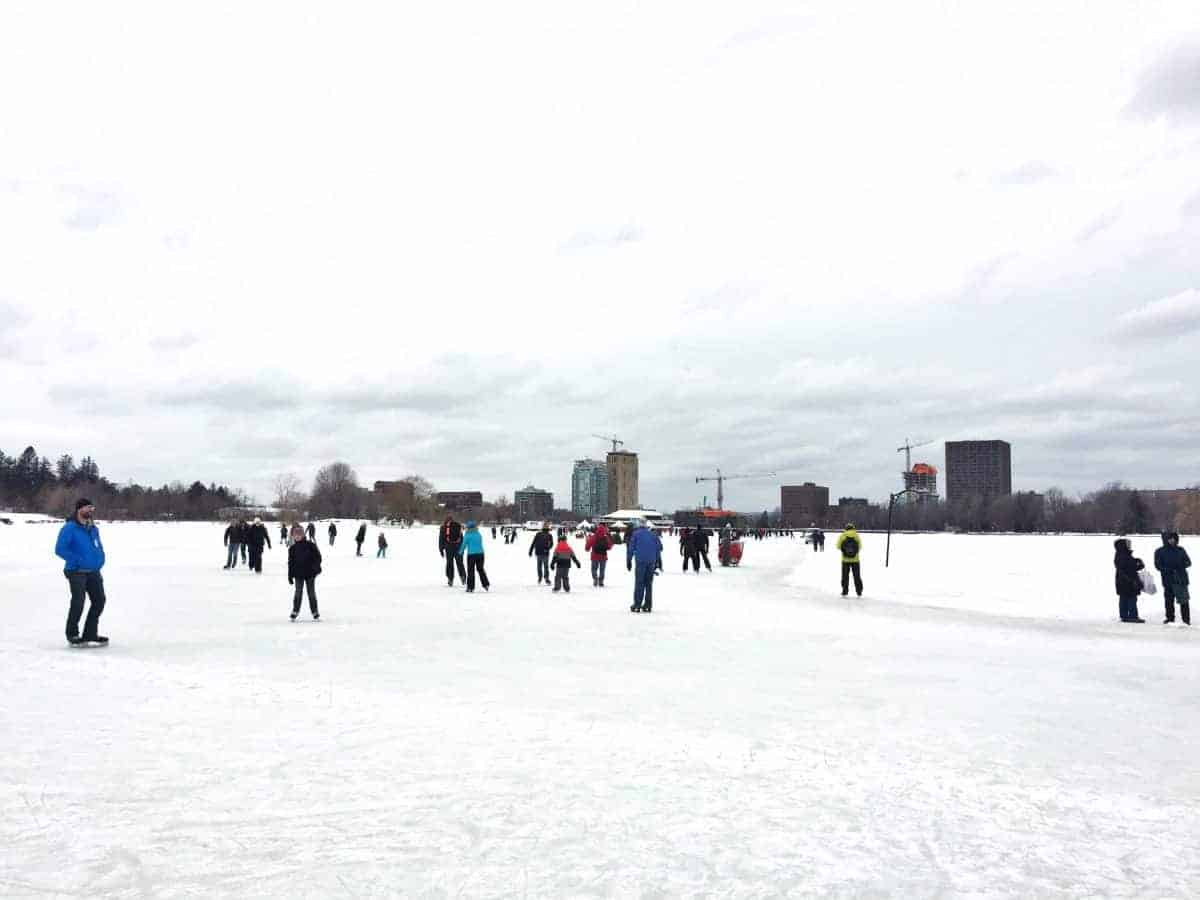 skating on rideau canal