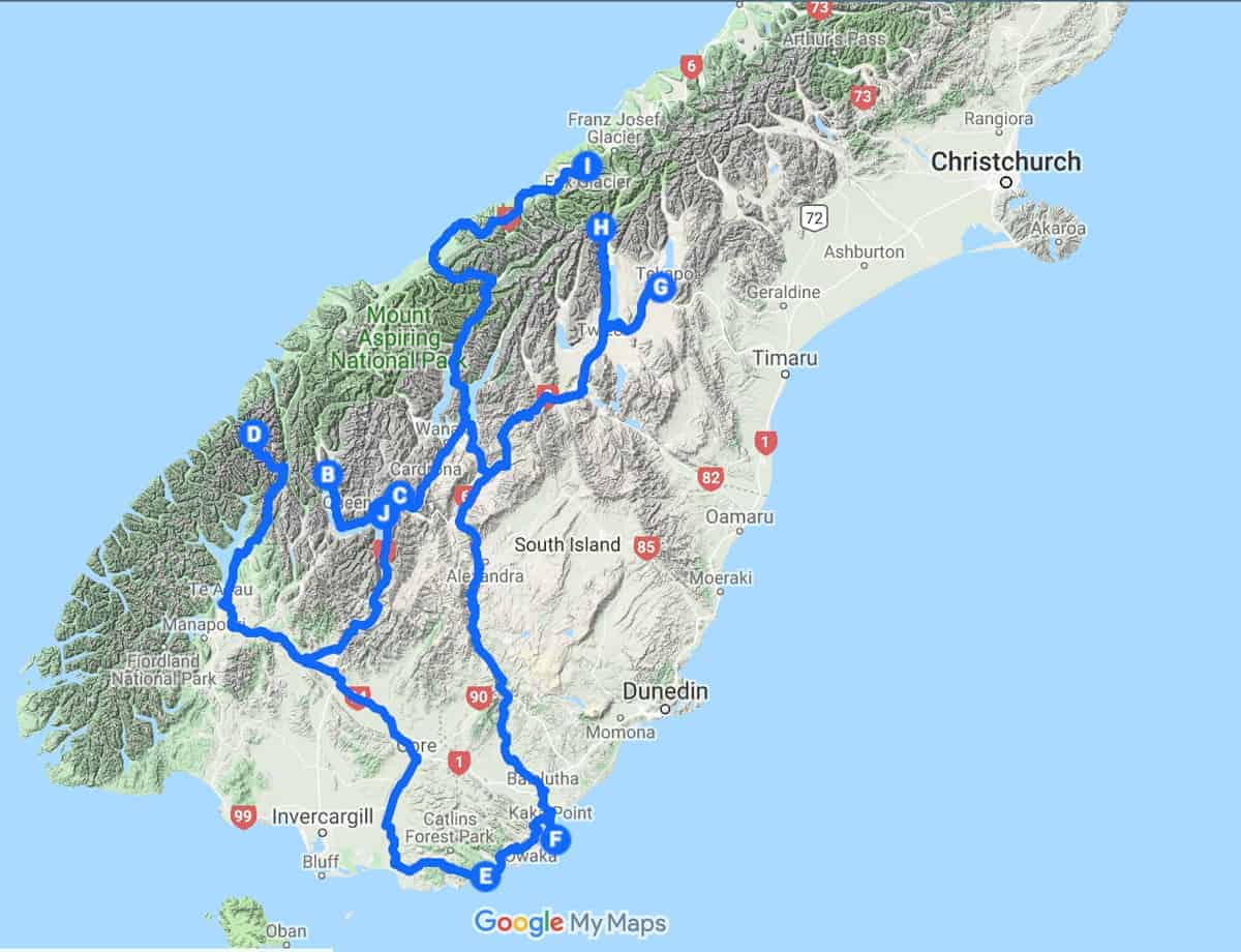 New Zealand Map | Plan your photography trip