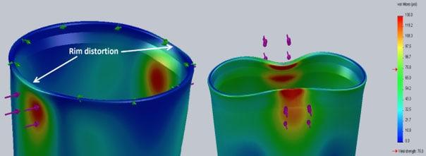 plastic coffee cup rim distortion