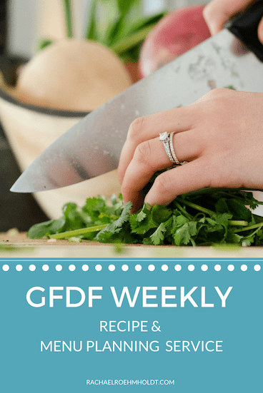 Gluten-free Dairy-free Menu Plans done for you