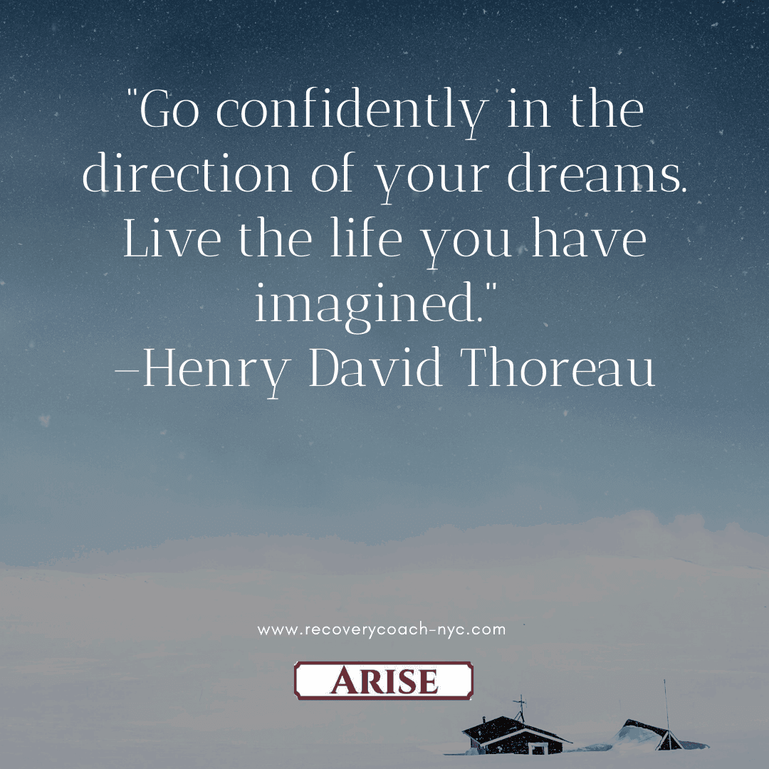 Control is a benefit of your recovery plan. In this image quote you see Henry David Thoreau's quote on confidence and control