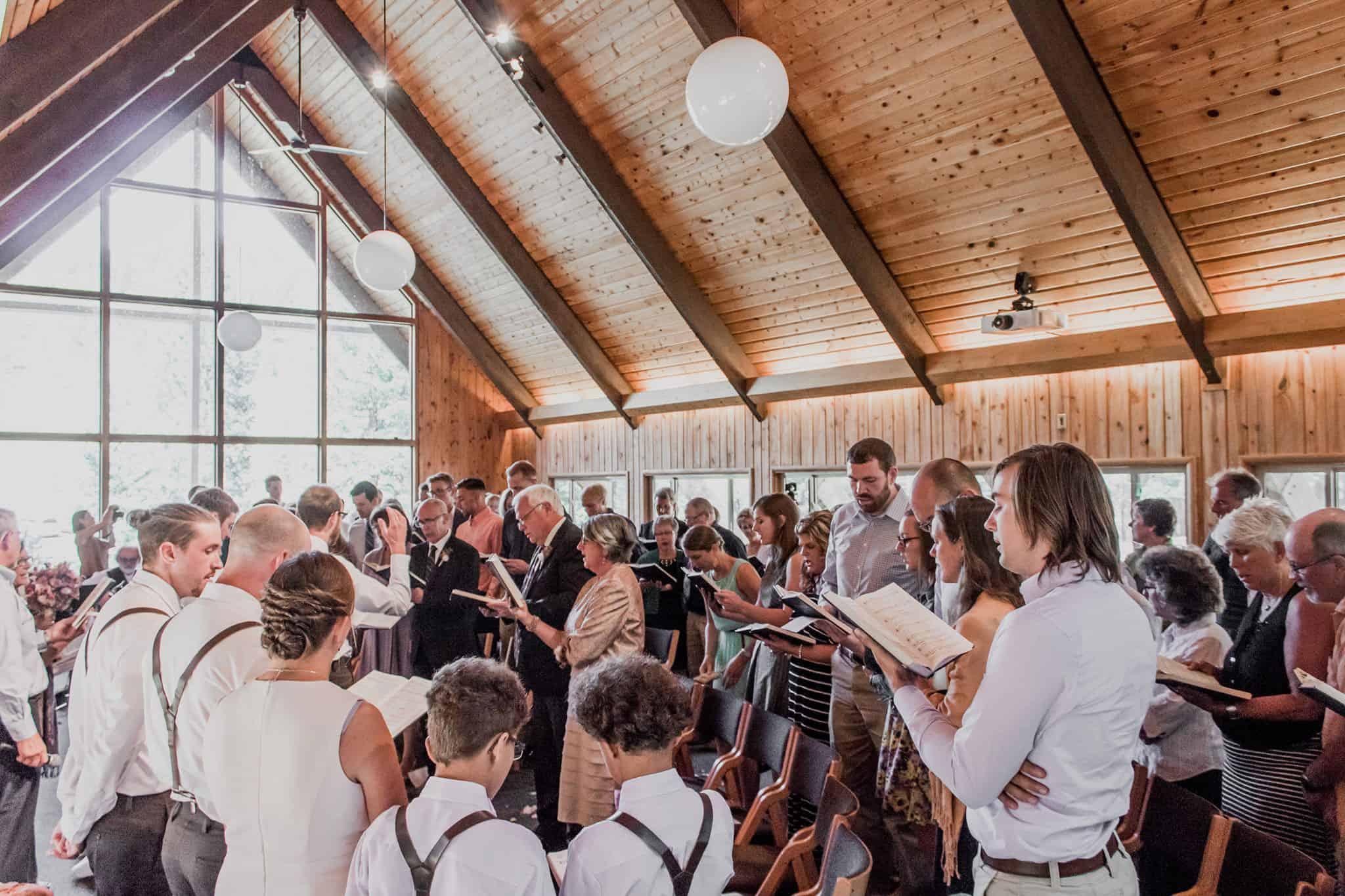 Summer wedding in the RMMC chapel.