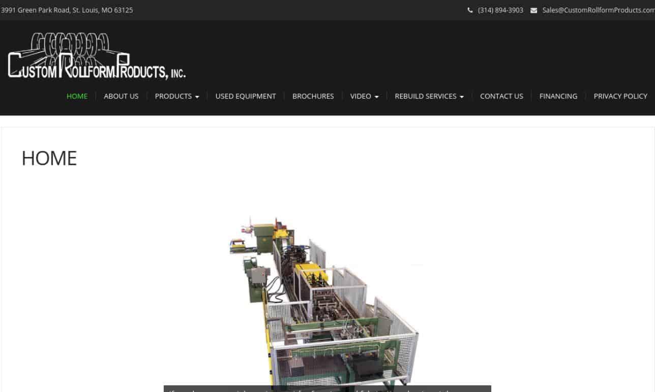 Custom Rollform Products, Inc.