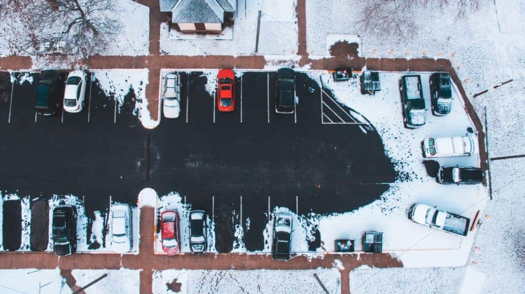 commercial snow properties and parking lots
