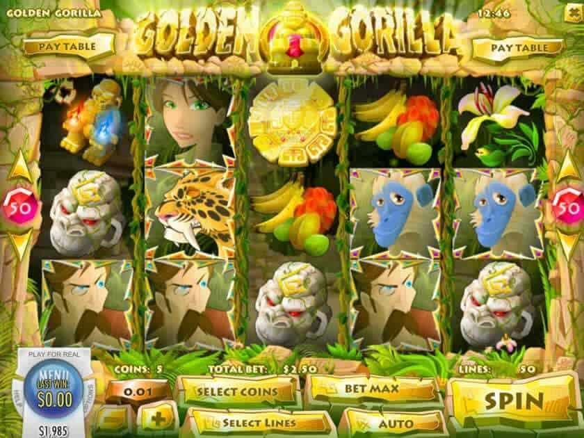 golden gorilla screen
