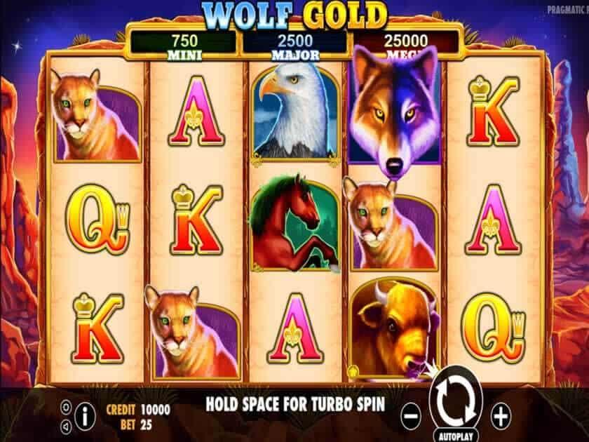 wolf gold screen