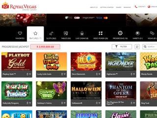 Royal Vegas Casino PC1 Screenshot