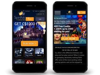 Spin Palace Mobile Screenshot