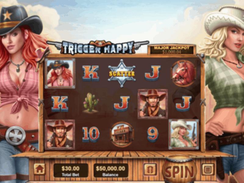 Screenshot of Trigger Happy online slot